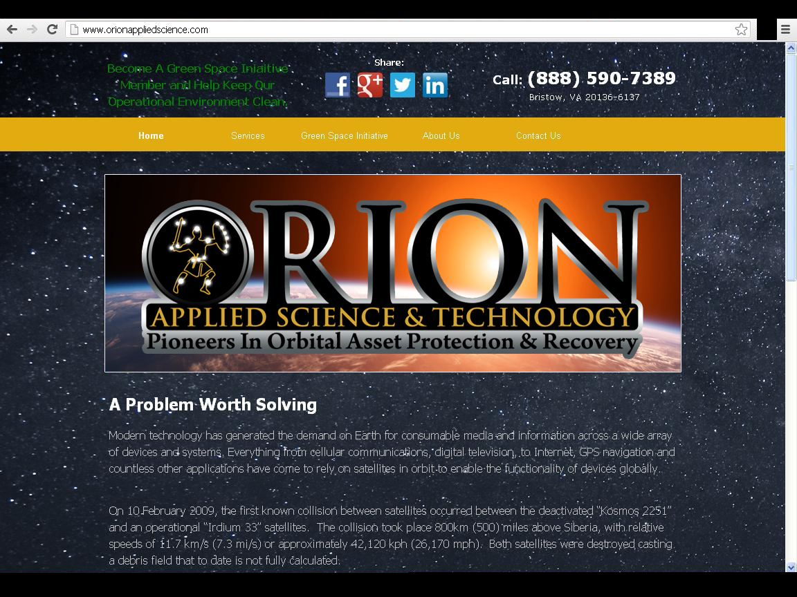 logo for Orion Applied Science & Technology, LLC