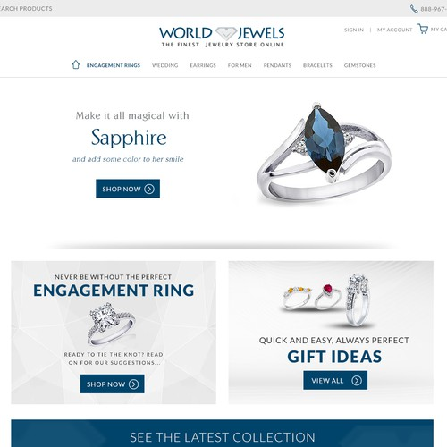 Homepage Jewelry website (best design will also get additional futureprojects)