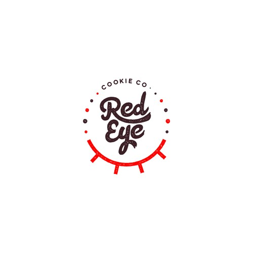 Logo concept for Red Eye. Cookie Co.
