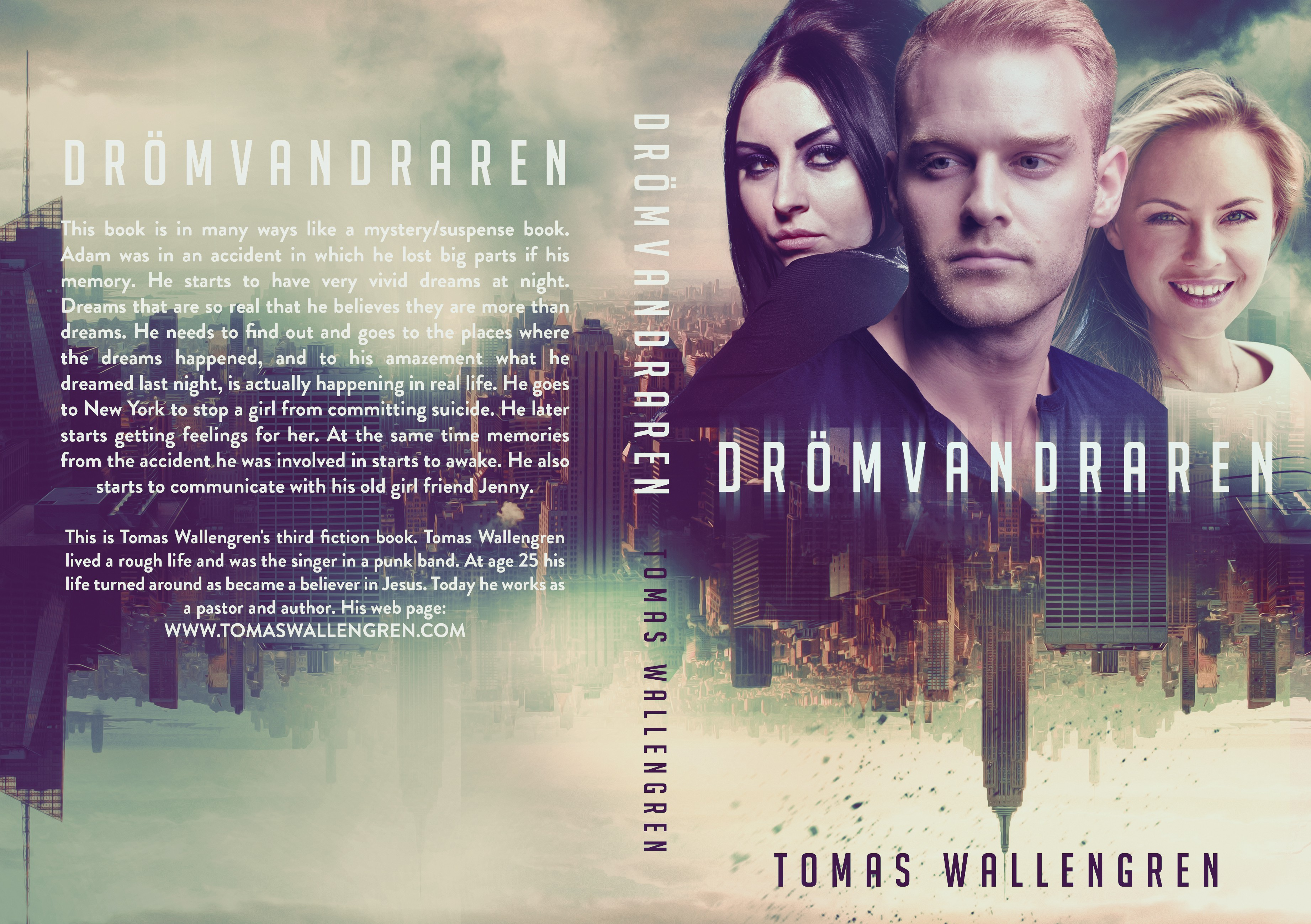 Create a captivating cover for the mystery suspense title The Dreamwalker