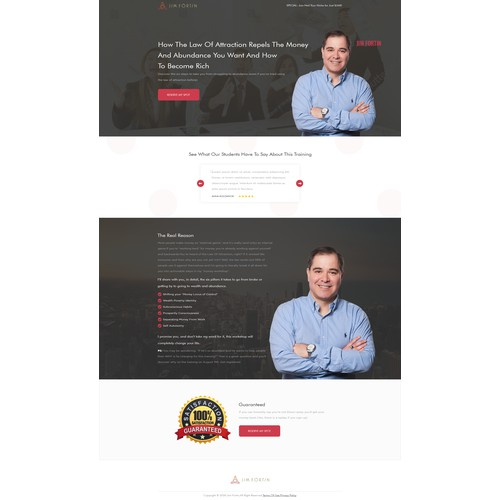 Design a modern, spiritual and vibrant landing page that coverts