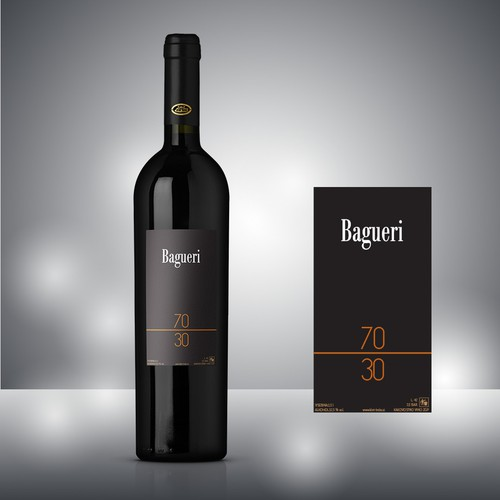 Minimal wine label