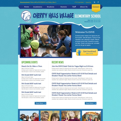 Let your imagination run wild with this kiddy landing page