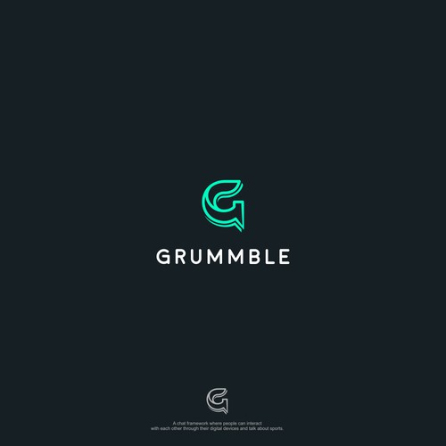 Minimalist line art concept for GRUMMBLE