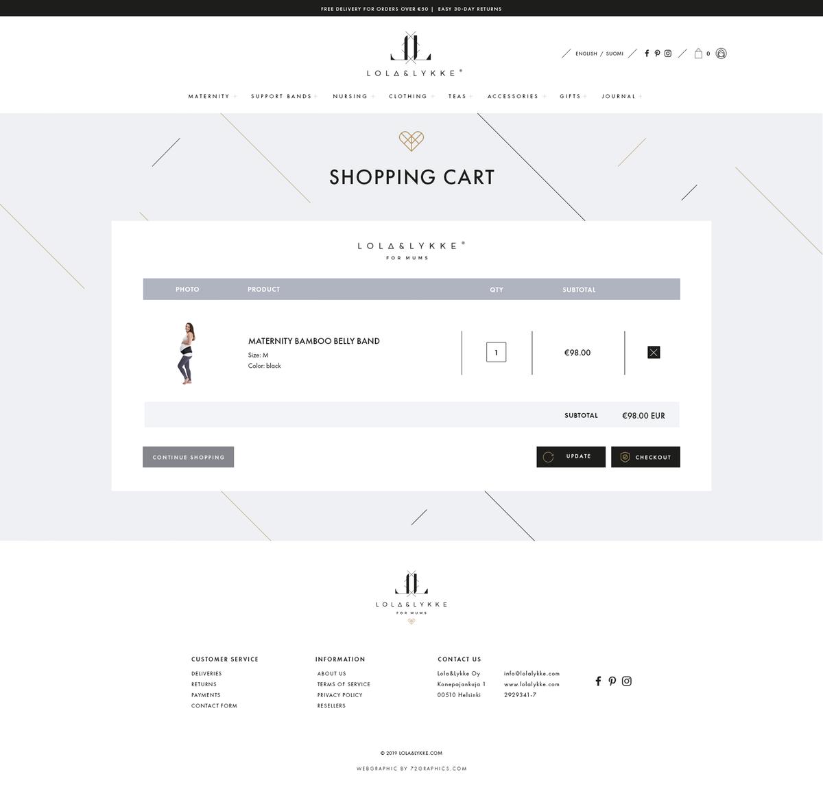 Website / landing page design