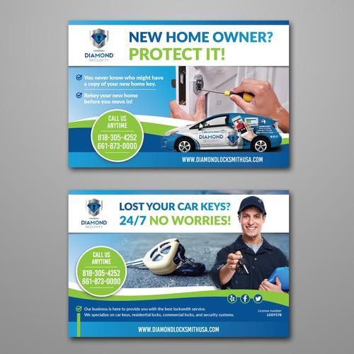 Locksmith company flyer