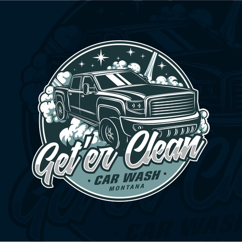 Design Logo For Get'er Clean Car Wash