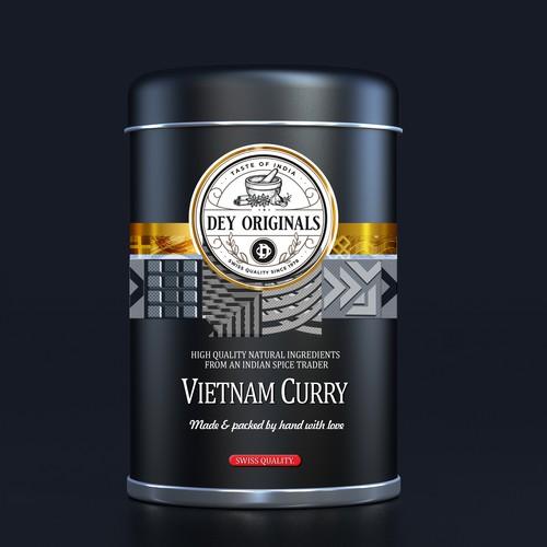 Label design Dey spices