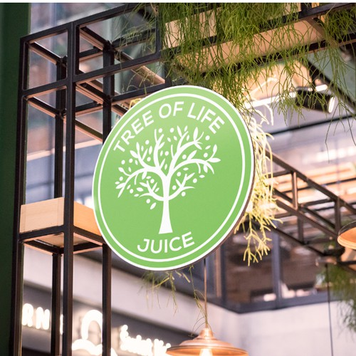 Tree of life juice bar logo concept