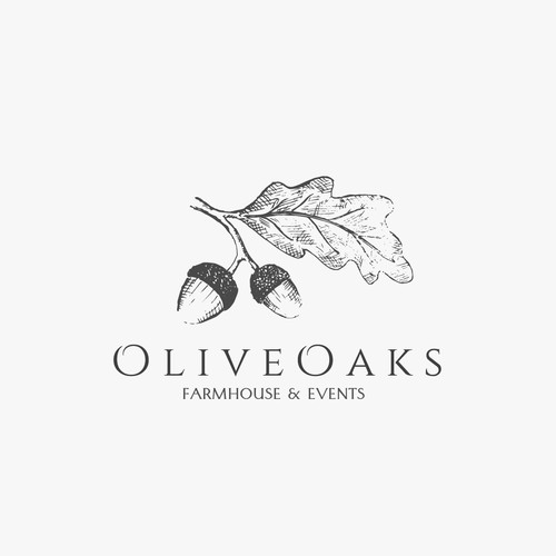 Illustrative logo for OliveOaks farmhaus and events