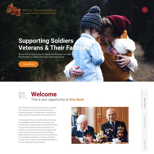 Relief Fund Webdesign