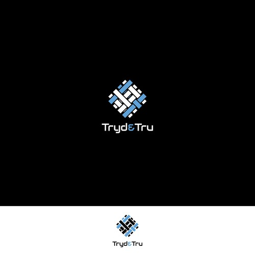 Creative logo and business card for Tryd & Tru