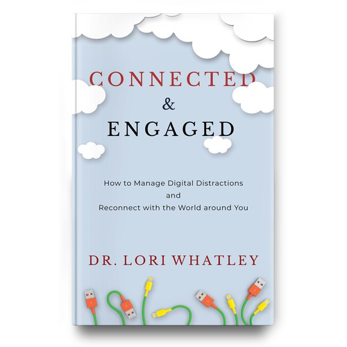 Bright, colorful book cover that encourages people to connect & engage the world around them more