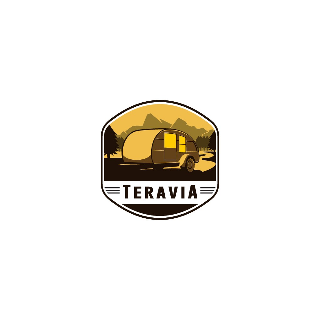 Create the perfect logo for the tiniest trailer - a TeraVia Teardrop Trailer.