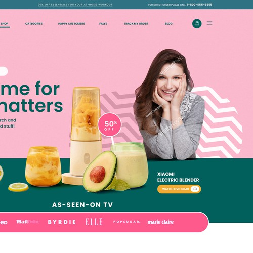 Ecommerce website template design
