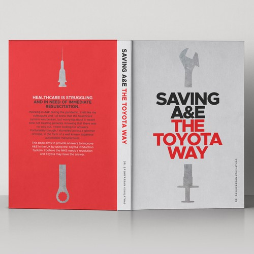 Book cover design for Saving A&E The Toyota Way