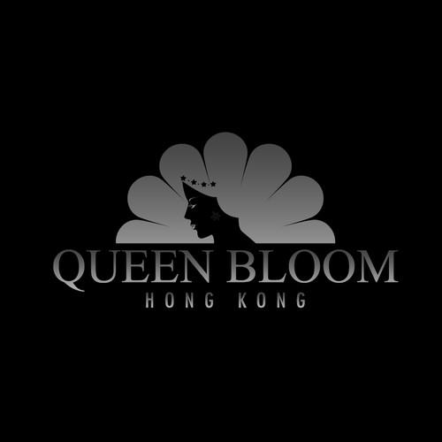 Logo concept for luxury flower florist