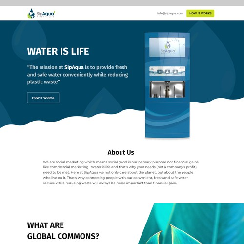 High converting home page design