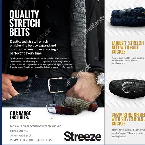 Half-fold brochure for Streeze