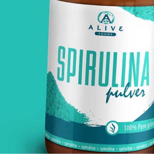 Spirulina Label