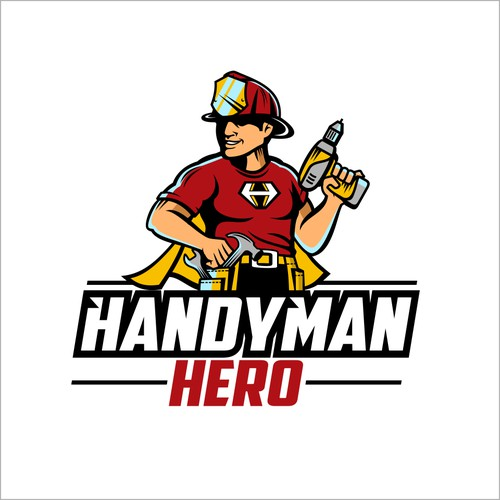 Super Hero logo for a Handyman Company