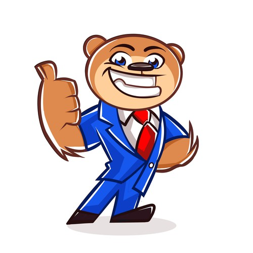 Attractive Trusting Lawyer Bear MASCOT