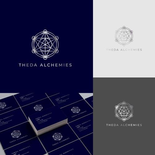 Theda Alchemies Sacred Geometry Inspired Logo Design
