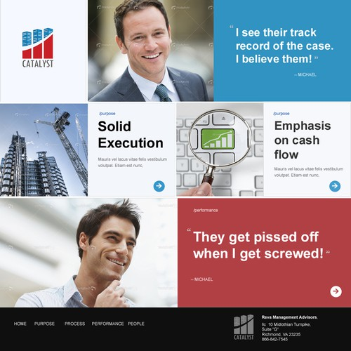A Fund Manager Website - Finalist
