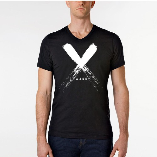 men's slim fit v-neck shirt design