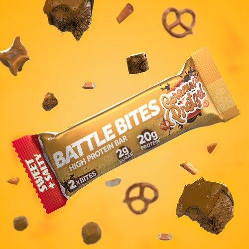 Wrap Protein bar 3d animation