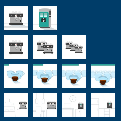 Icons for coffee machine selector