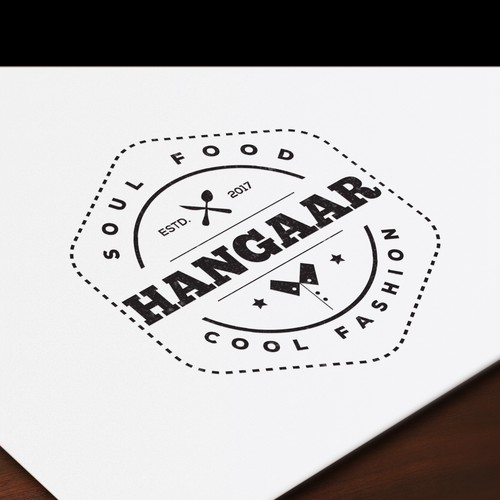 "Logo for a Clothing and Healthy food Brand ""Hangaar"""