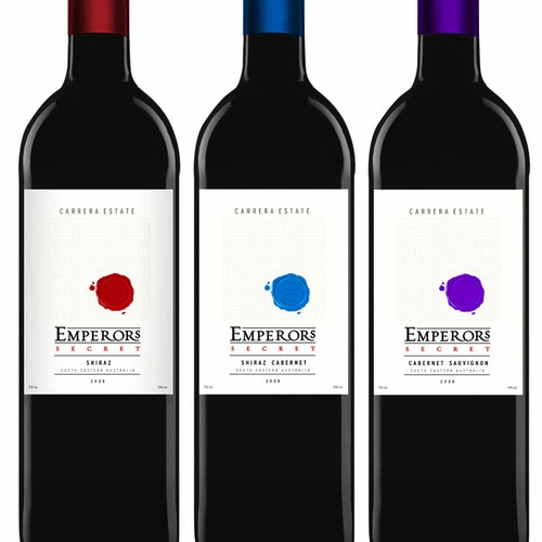 Wine label Emperors secret