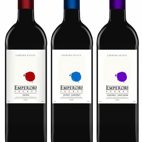 Wine label Emperors secret