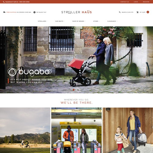 Nordic Website Design for Stroller Haus