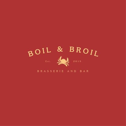 Boil & Broill - Brasserie & Bar logo design