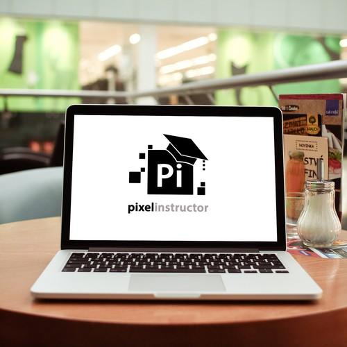 logo concept for pixelinstructor