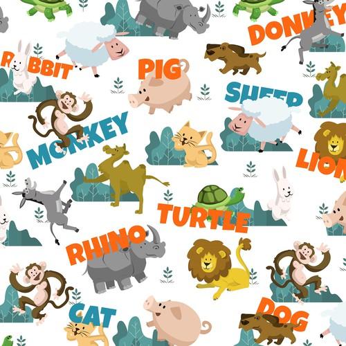Animal Pattern Blanket