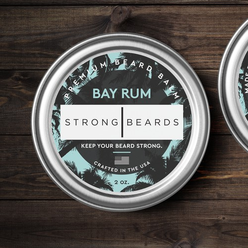 Beard balm label needed for premium men's grooming company