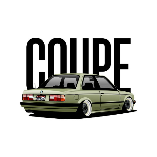The Dirty Thirty's E30 Coupe vector