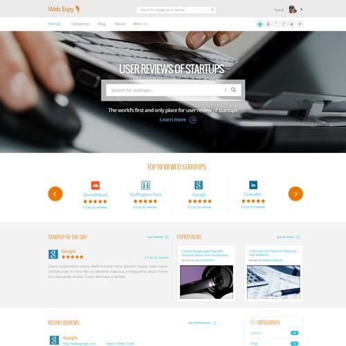 Minimalist, Flat Website Design for New York Based Startup -- Guaranteed Contest