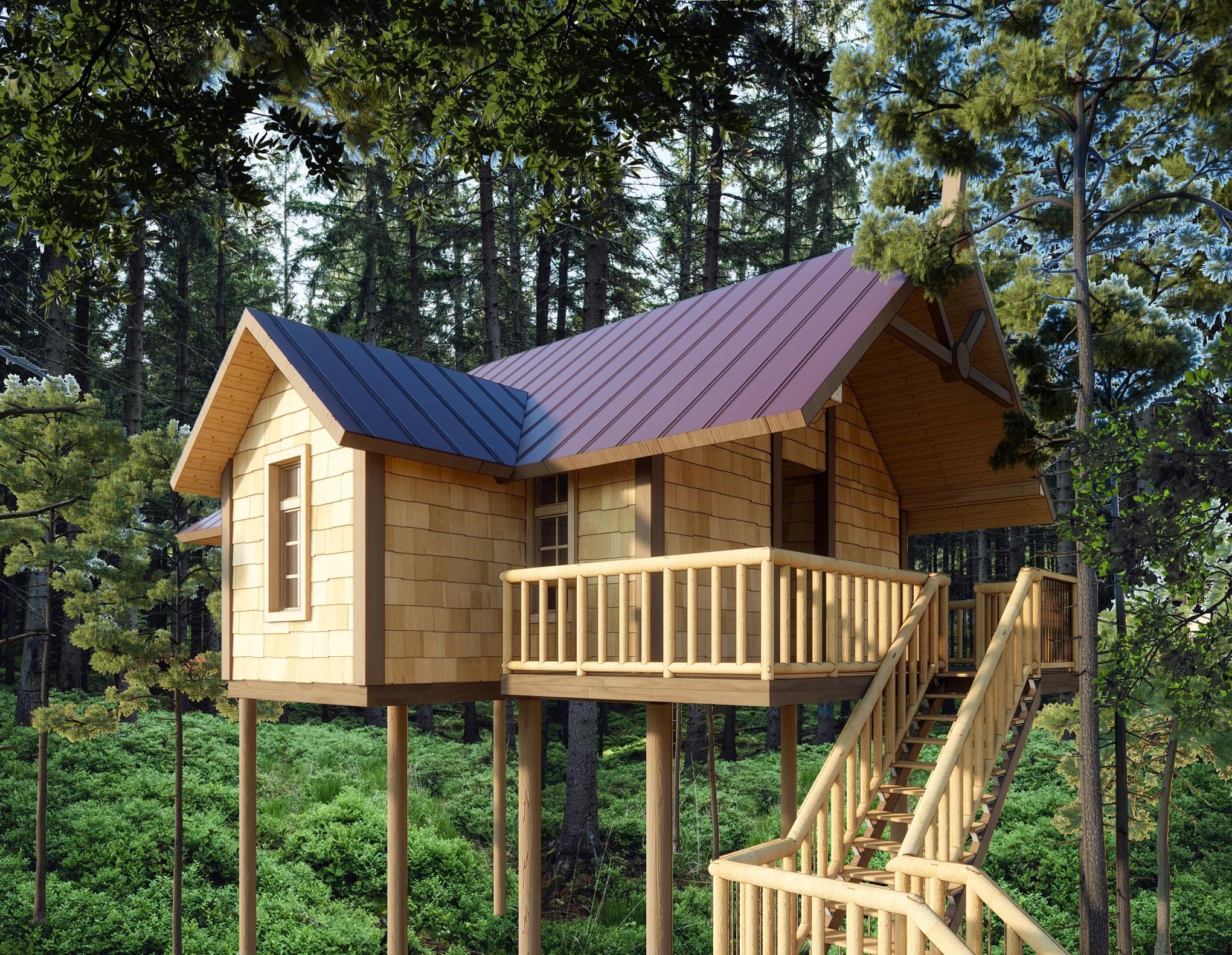 Summer Camp Tree House Cabin Design