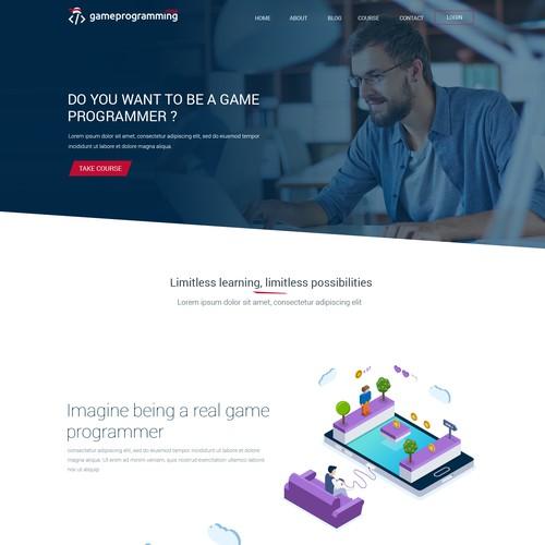 Website design for GameProgramming.ninja