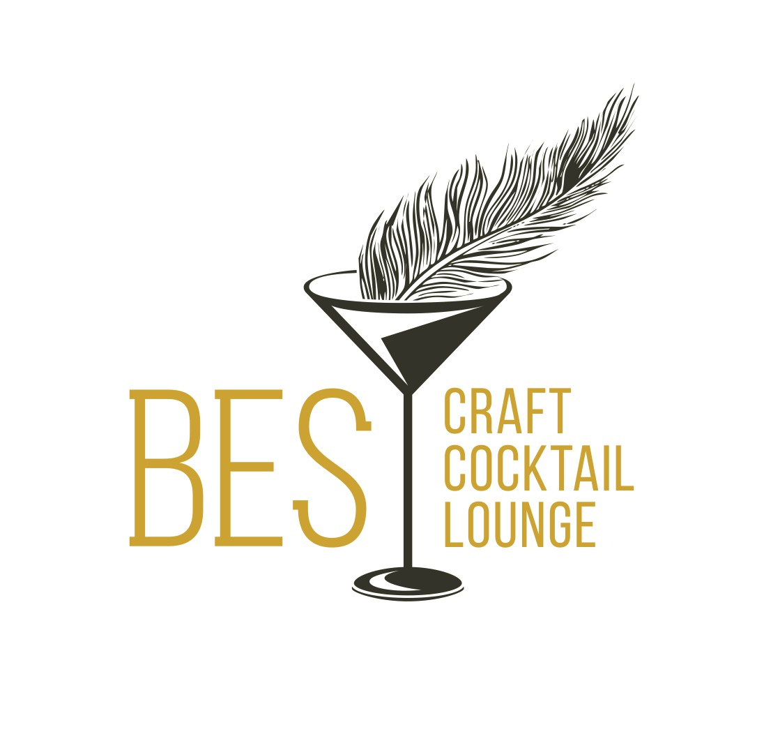 Logo & website for Bes Craft Cocktail Lounge, a new addition to the culinary scene of the Caribbean