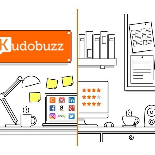 Simple office illustration
