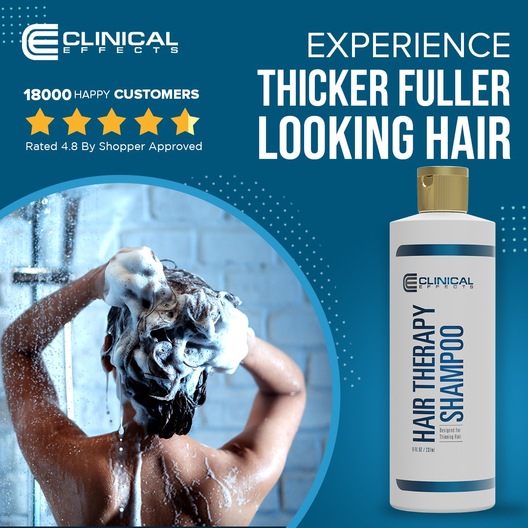 Facebook Image Ad For a Natural Hair Growth Shampoo