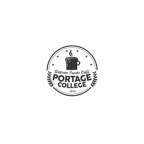 Bakery and Cafe logo concept for Portage College