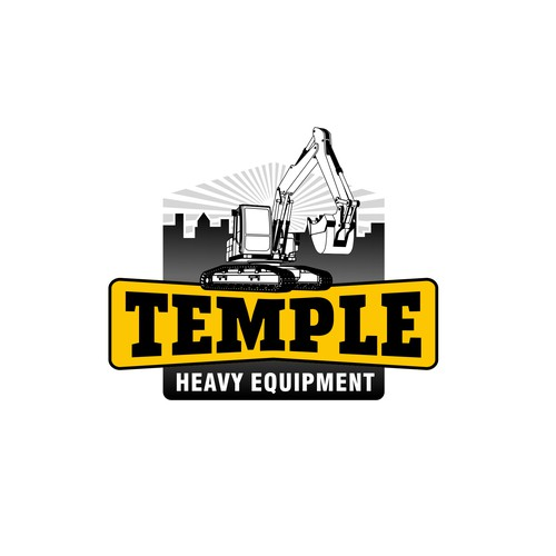 Unique Logo for Heavy Equipments Broker