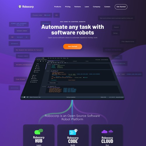 Homepage for robocorp