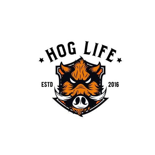 """Logo for """"Hog Life"""""""